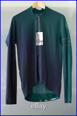 Rapha Pro Team Long Sleeve Thermal Jersey Colourburn, XL, Dark Green/Black