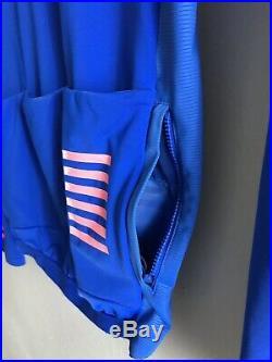 Rapha Pro Team Long Sleeve Thermal Jersey Small Ultramarine/Pink