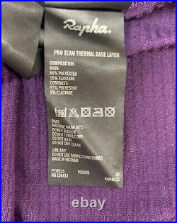 Rapha Pro Team Thermal Base Layer Long Sleeve Dark Purple X Large New With Tag