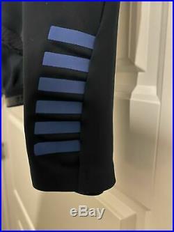 Rapha Pro Team Thermal Navy Blue Long Sleeve Cycling Jersey Sz L EUC 9/10