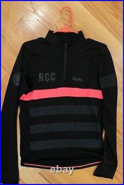 Rapha RCC LONG SLEEVE Jersey Black Medium MINT Discontinued