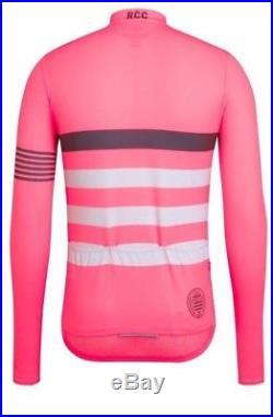 Rapha RCC PRO TEAM Long Sleeve Midweight Jersey Hi-Viz Pink BNWT Size M