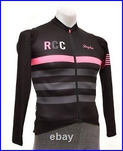Rapha RCC Pro Team Long Sleeve Midweight Jersey Men SMALL Black Road Bike Race