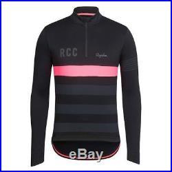Rapha RCC Training Cycling Jersey Mens Medium Black longsleeve