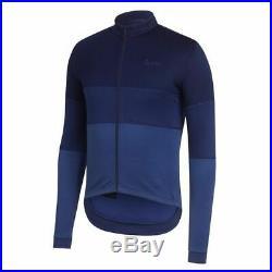 Rapha Tricolour Merino Long Sleeve Cycling Jersey Sz L Winter Training EUC RARE