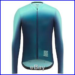 Rapha Turquoise Blue Long Sleeve Pro Team Aero Jersey Colourburn. Size L. BNWT