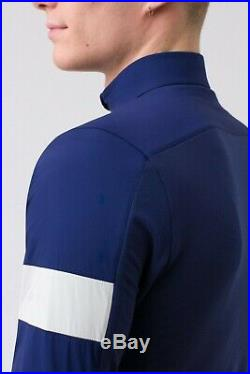 Rapha Winter WindBlock Long Sleeve Navy Blue Cycling Jersey New Sz Med M