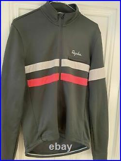 Rapha brevet hi viz gray & pink long sleeve cycling jersey large new witho tags