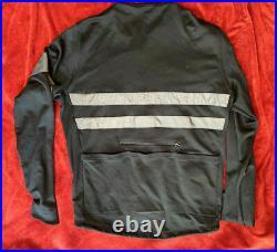 Rapha brevet sportswool hi viz black long sleeve cycling jersey xl extra large