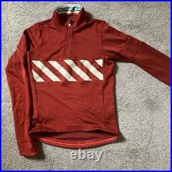 Rapha davis phinney red sportswool long sleeve cycling jersey xl A++++ Shape