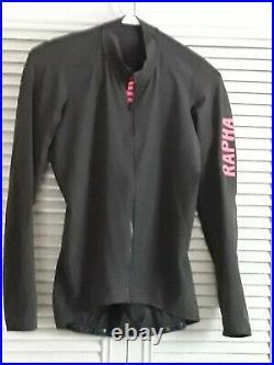 Rapha pro team long sleeve cycling jersey aero carbon gray pink large A++ Shape