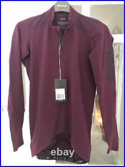 Rapha pro team long sleeve cycling jersey aero plum purple med new with tags