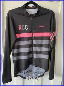 Rapha pro team mid weight long sleeve rcc blk cycling jersey large A++++ Shape