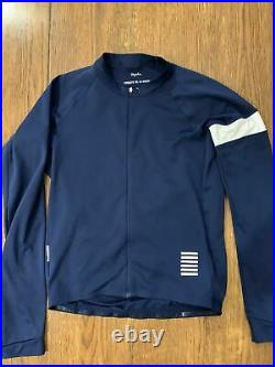 Rapha pro team midweight long sleeve navy cycling jersey large A++++ Shape