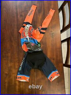 SANTINI VIPER BODY NIPPO VINI FANTINI LONG SLEEVE Skinsuit Time Trial Suit M
