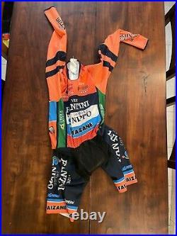 SANTINI VIPER BODY NIPPO VINI FANTINI LONG SLEEVE Skinsuit Time Trial Suit S