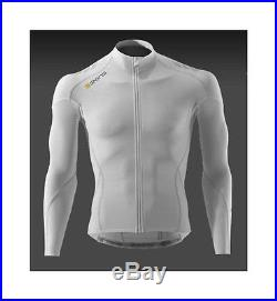 Skins C400 Compression Long Sleeve Cycling Jersey White Small