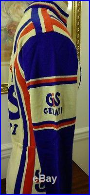 Vintage 80's Gis Gelati Colnago Wool Long Sleeve Cycling Jersey Italy M