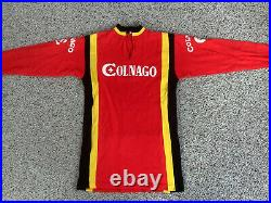 Vintage Colnago Wool Blend Long Sleeve Cycling Jersey