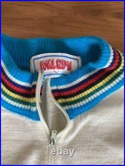 Vintage RARE SHIMANO Dura Ace Cycling Jersey Size L Long Sleeve PEARL IZUMI