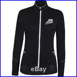 Women's Mearesy Cycling Long Sleeve Jersey in Black. Made in Italy by Santini