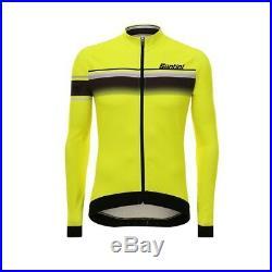 XL Yellow Santini Sleek Lombardia Aquazero 2017 Long Sleeve Race Jersey Fi
