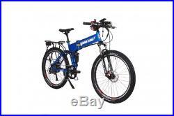 X-Treme Baja 48 Volt FOLDING High Power Long Range Electric Mountain Bike wULock